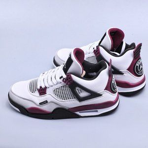 Nike Air Jordan 4 Retro PSG AJ4 Joe 4 Grand Paris full head layer white fuchsia